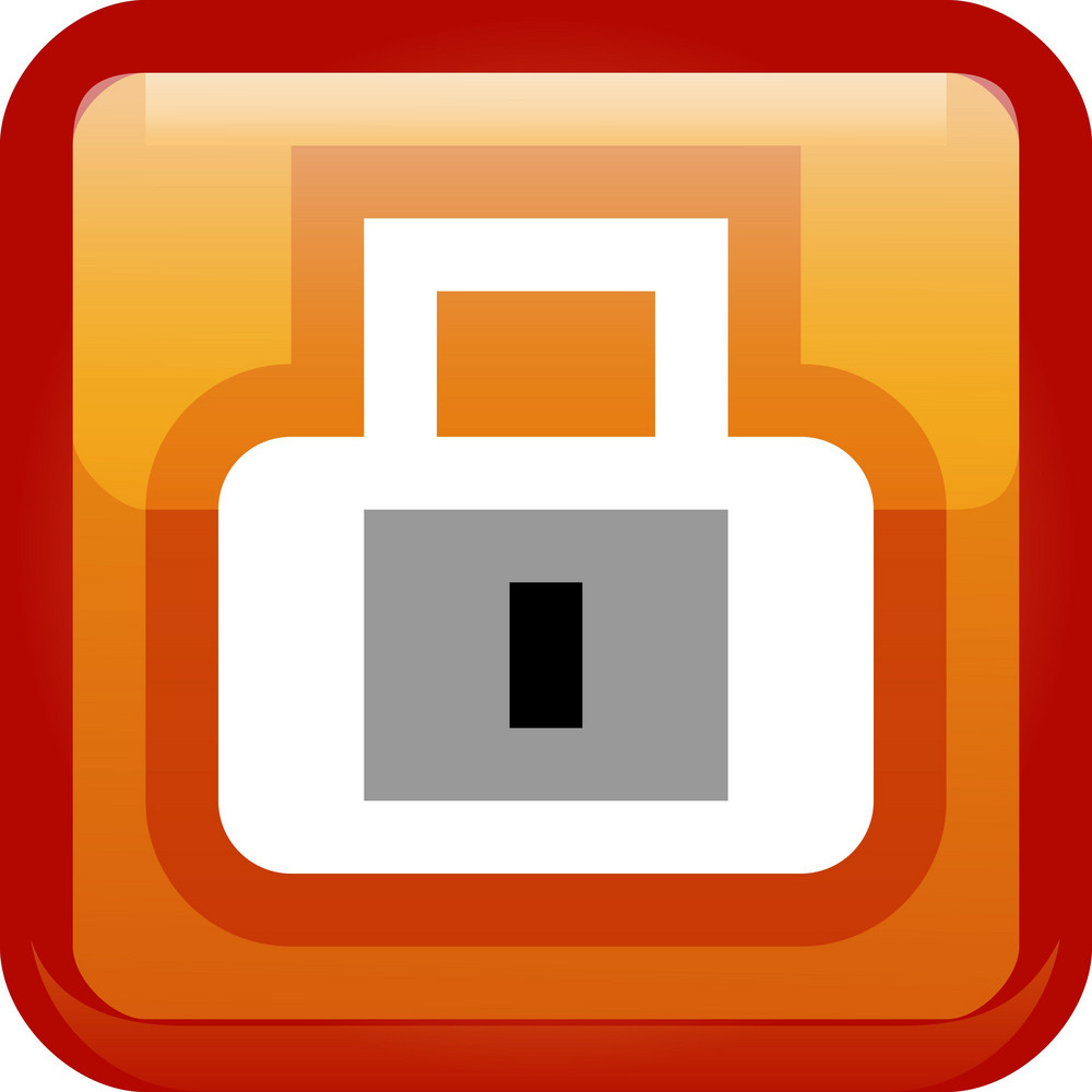Padlock Privacy Orange Tiny App Icon
