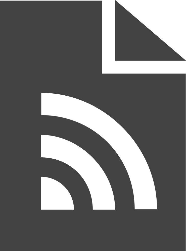 Page Rss Glyph Icon