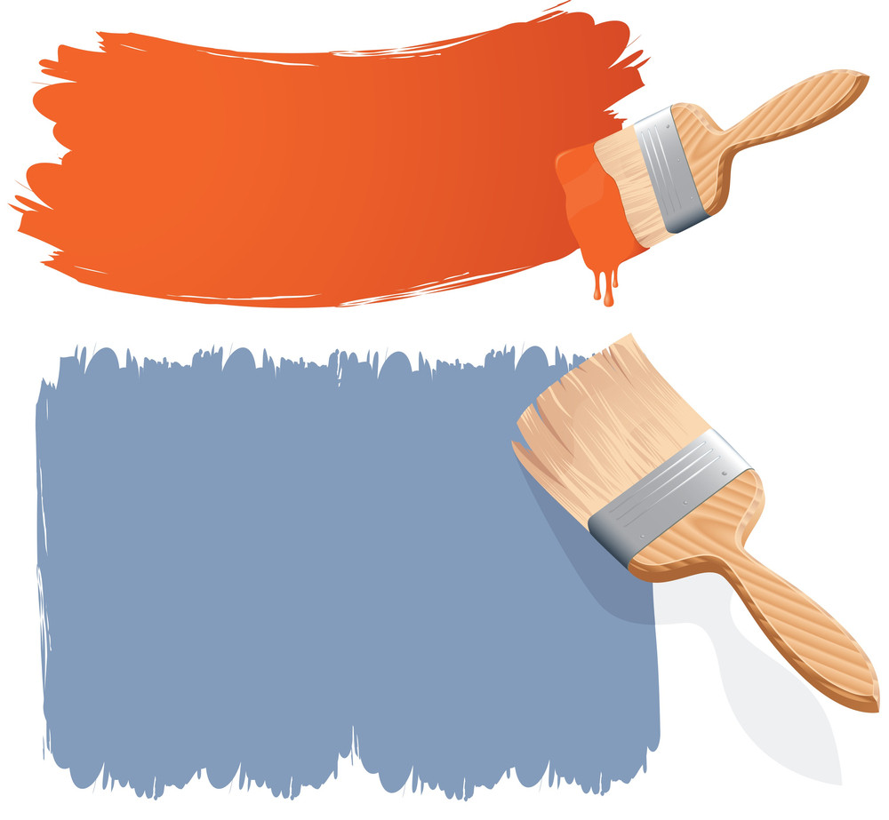 Paint Brushes  Vector  Royalty-Free Stock Image