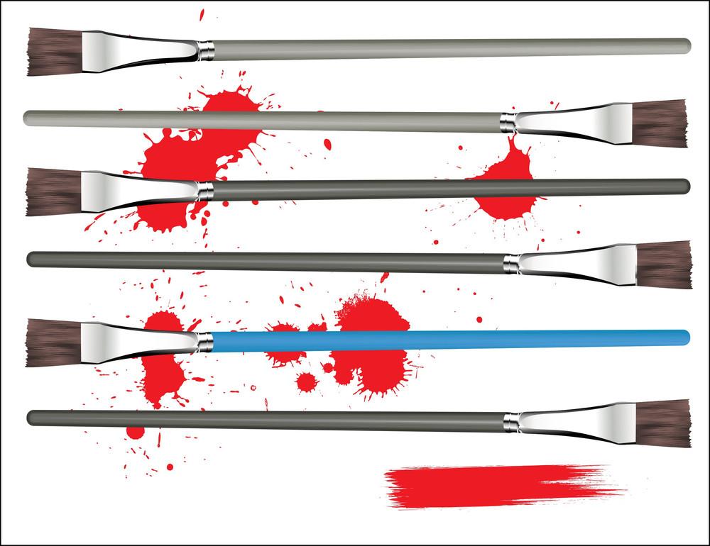 Paint Brushes Vectors