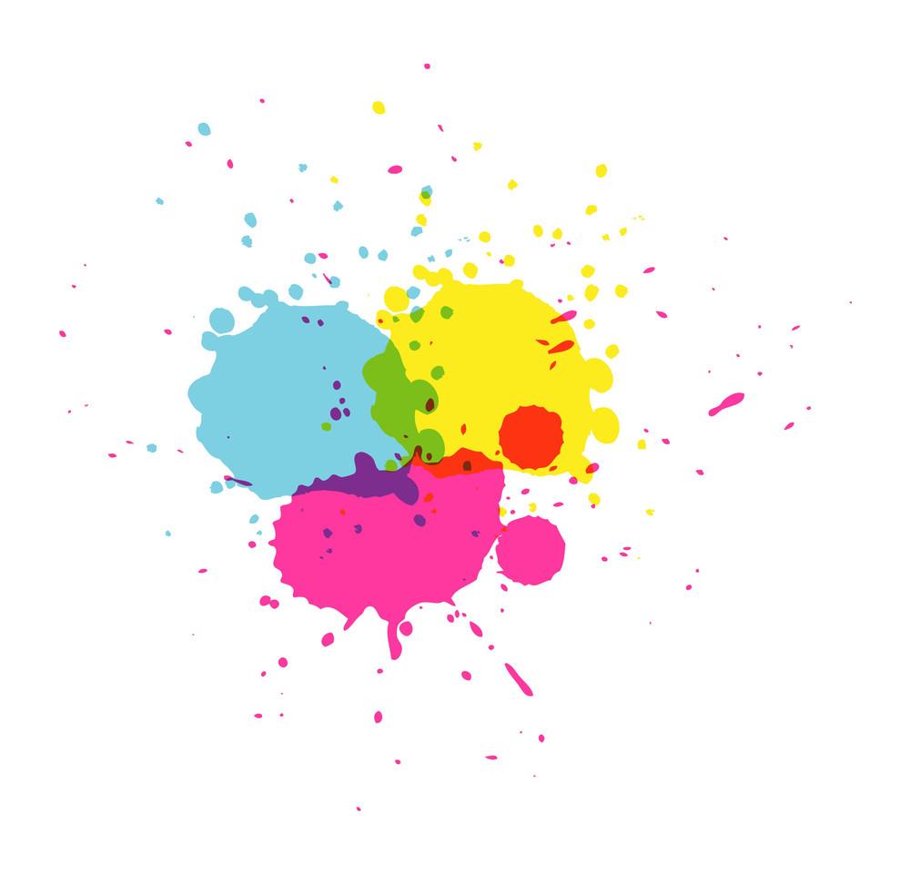 Paint Drops Background