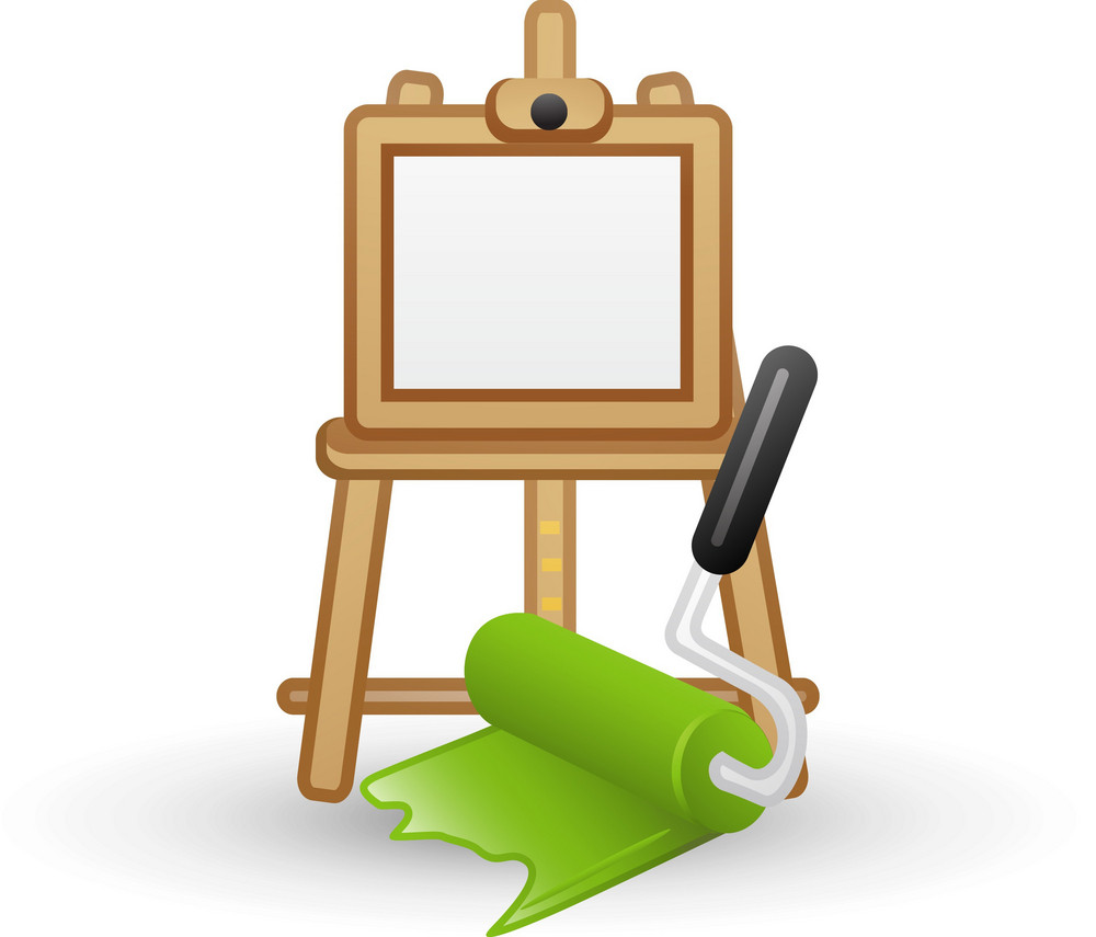 Paint Roller And Easel Lite Art Icon