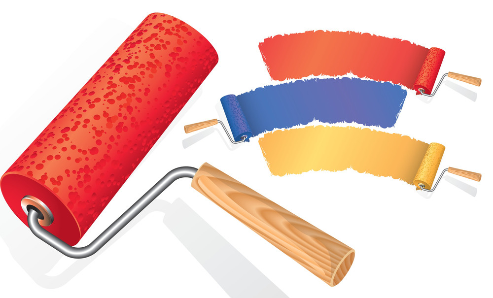 Paint Rollers. Vector.