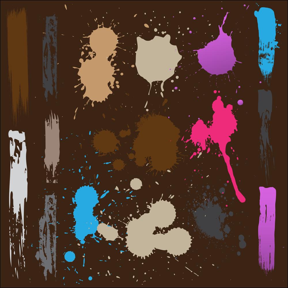 Paint Splashes Background