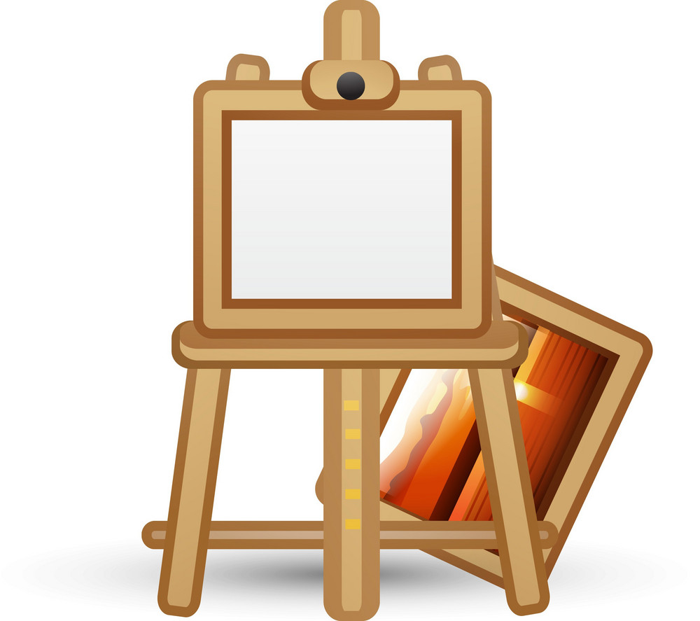 Painting Behind Easel Lite Art Icon