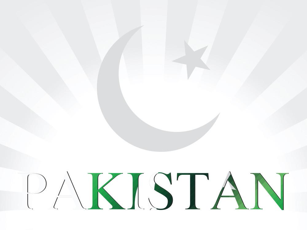 Pakistan Flag Symbol Illustration
