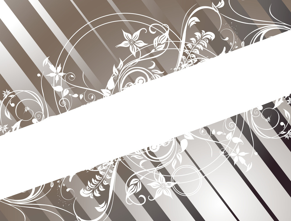 Panel Lines Background With Floral Banner