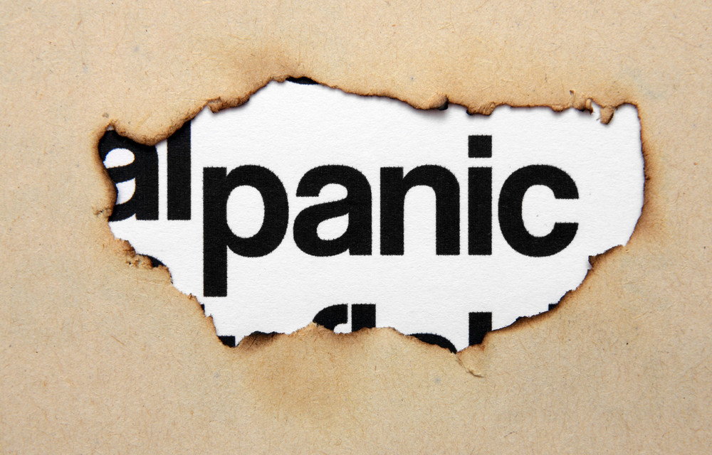 Panic Text On Paper Hole