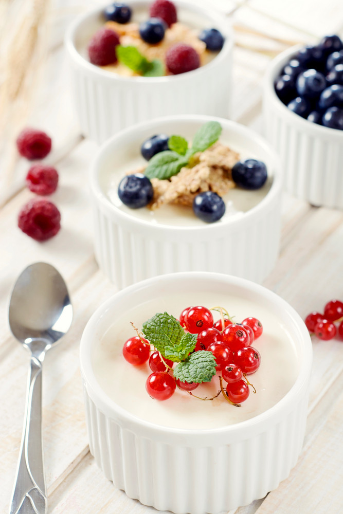 Panna Cotta With Berry Fruits