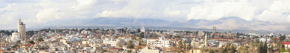 Panoramic Image Of Nicosia City