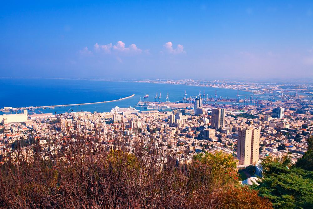 Panoramic view of Haifa city