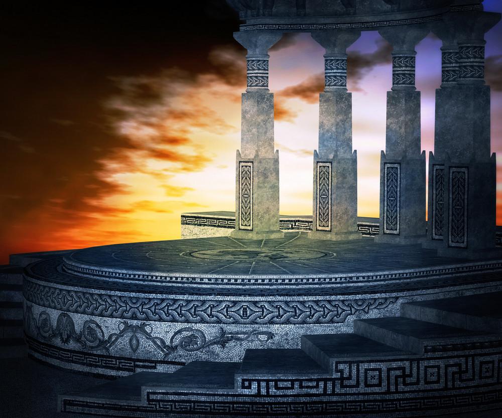Pantheon Ancient Premade Backdrop