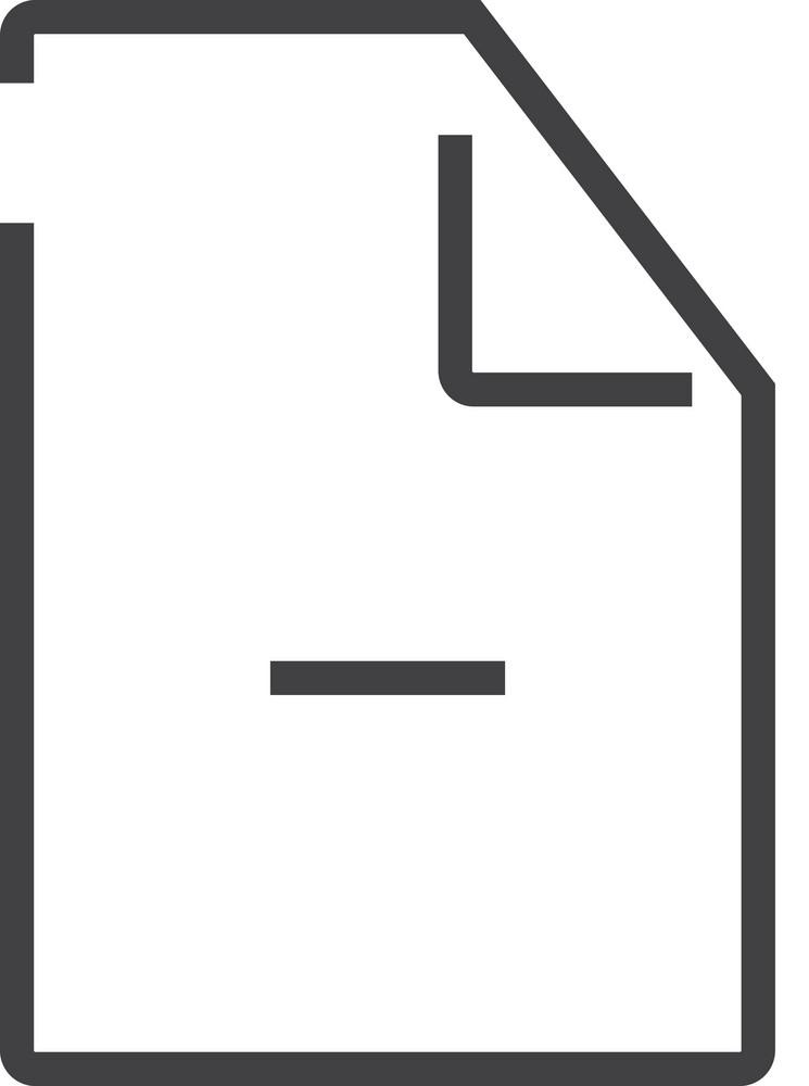 Paper 9 Minimal Icon