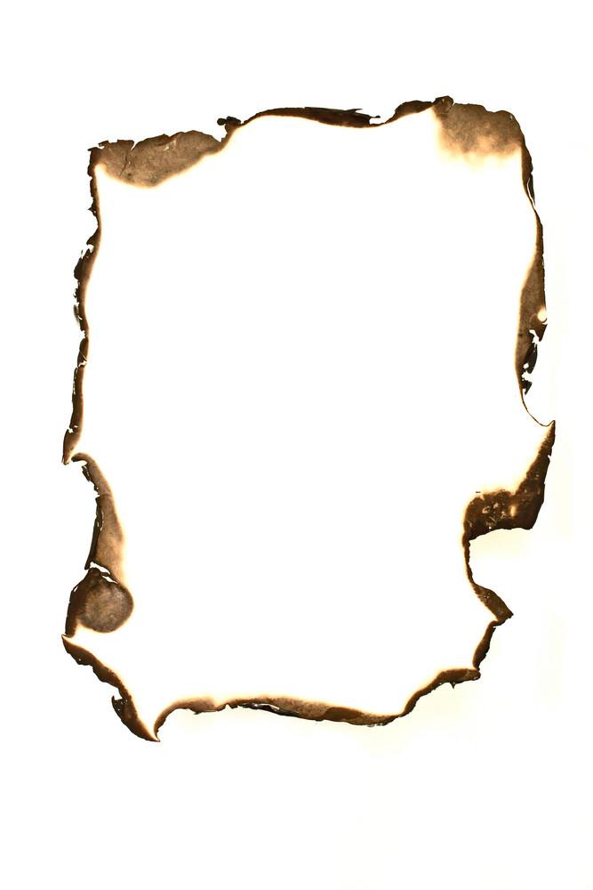 Paper Burned Hole Edges