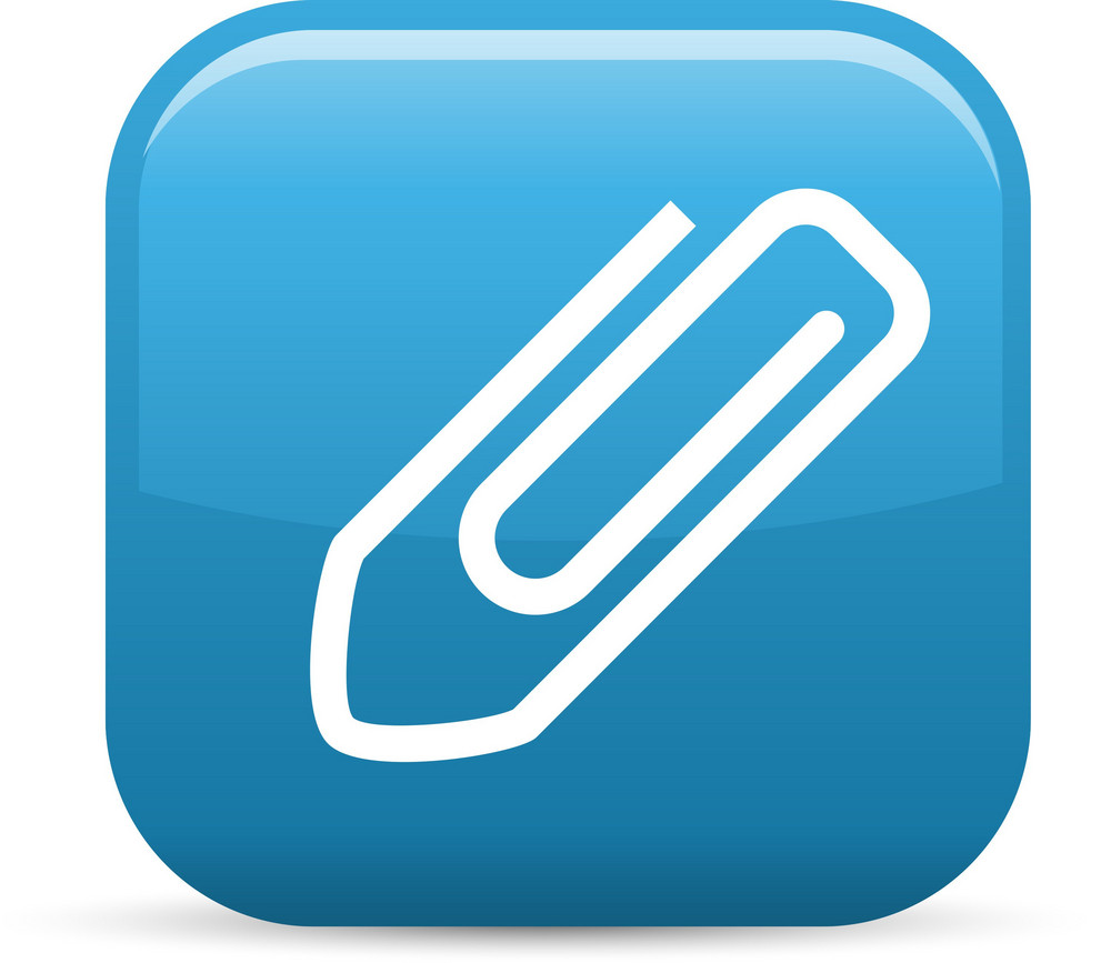 Paper Clip Elements Glossy Icon