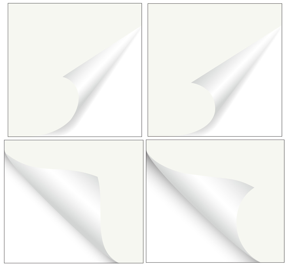Paper Curled Vector Corners