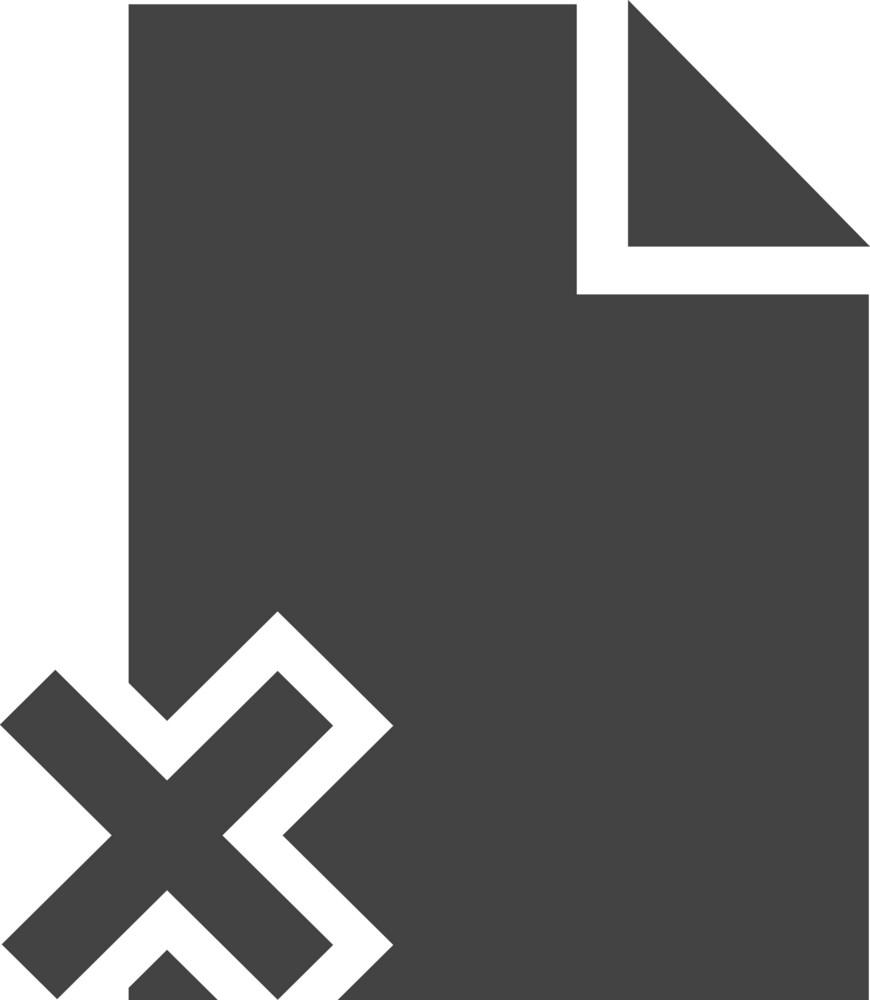 Paper Delete Glyph Icon