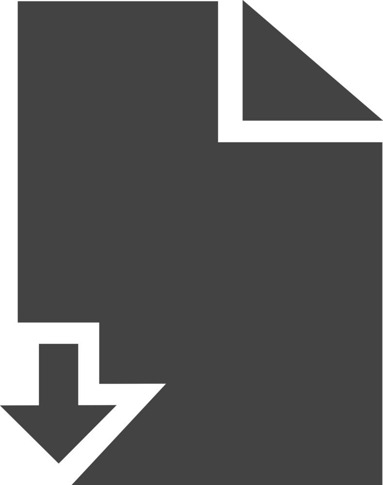 Paper Down Glyph Icon