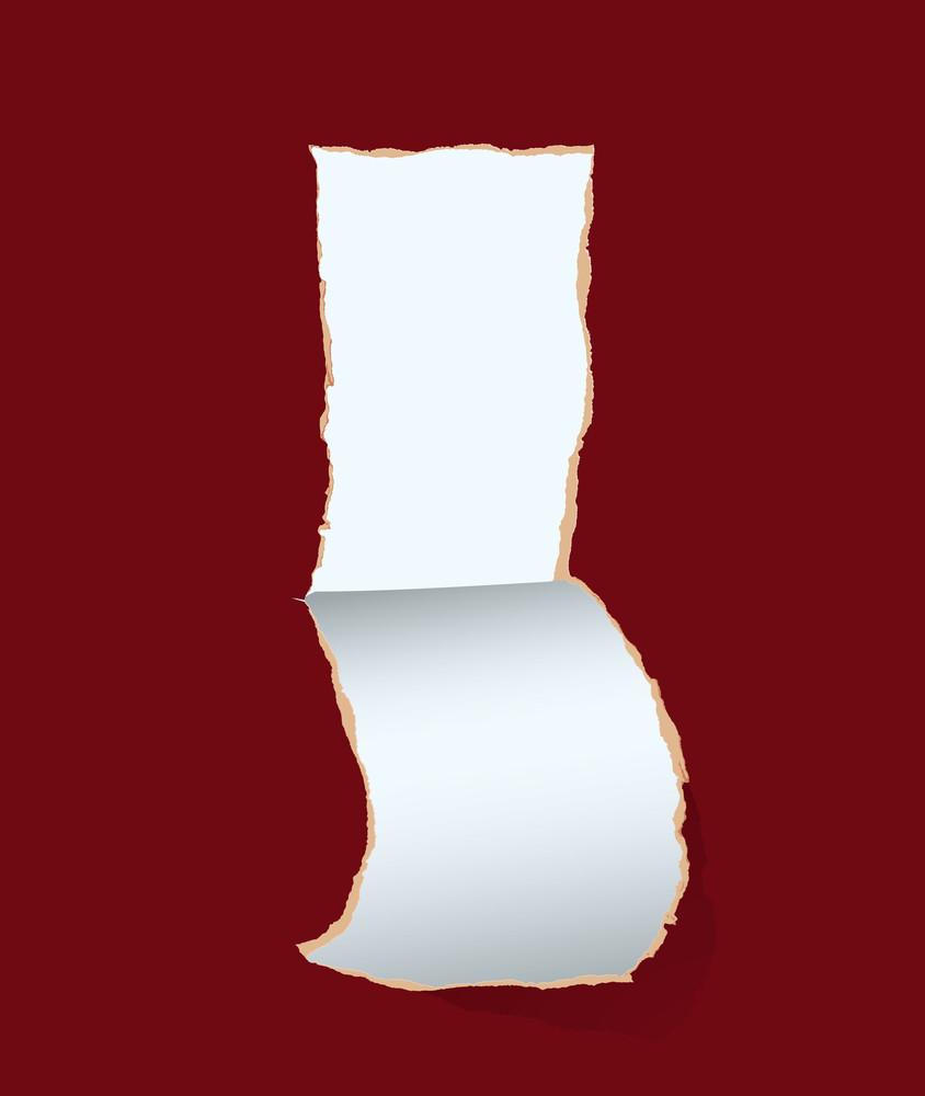 Paper Hole. Vector Illustration.