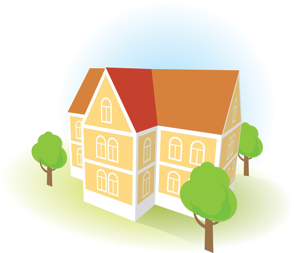 Paper House. Vector.