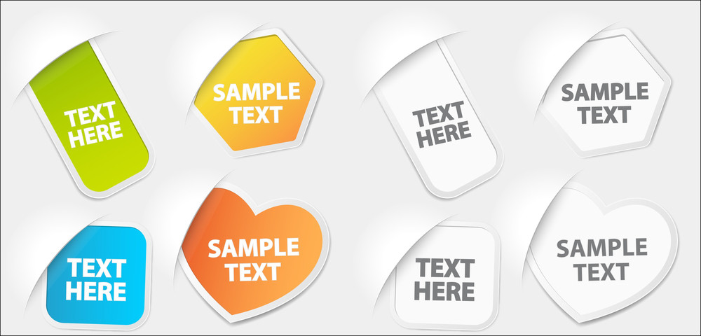 Paper Labels Vectors