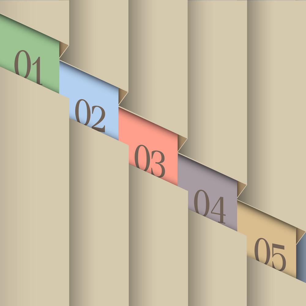Paper Number Line Background