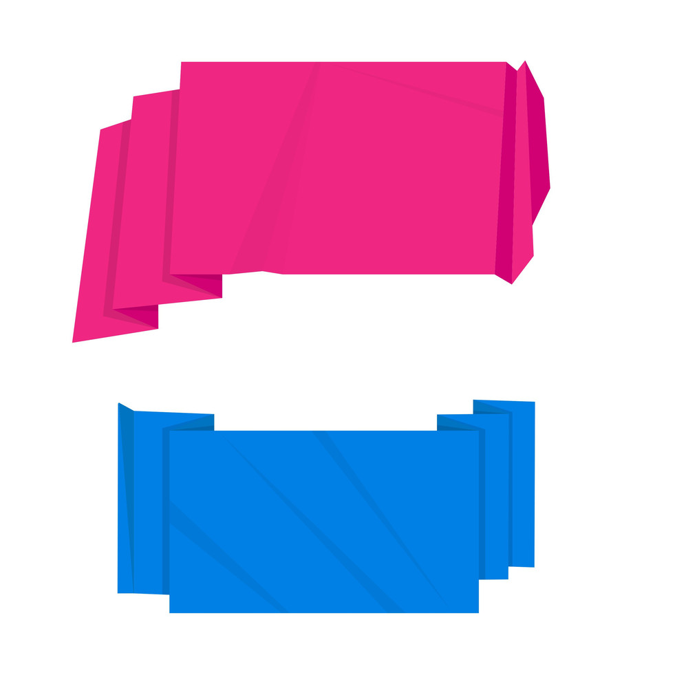 Paper Origami Speech Bubbles