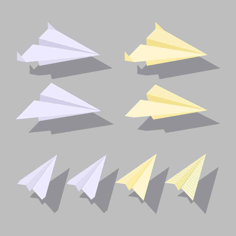 Paper Planes Set.