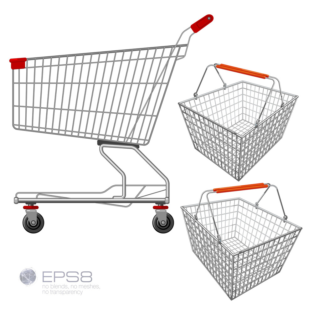 Shopping Cart and Shopping Basket
