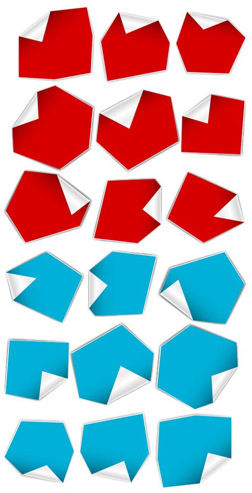 Paper Stickers Vectors