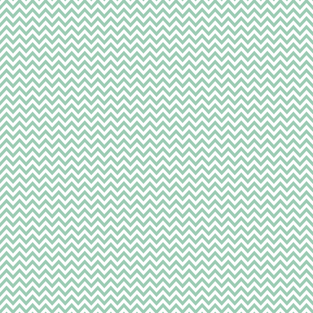 Mint Blue And White Chevron Pattern