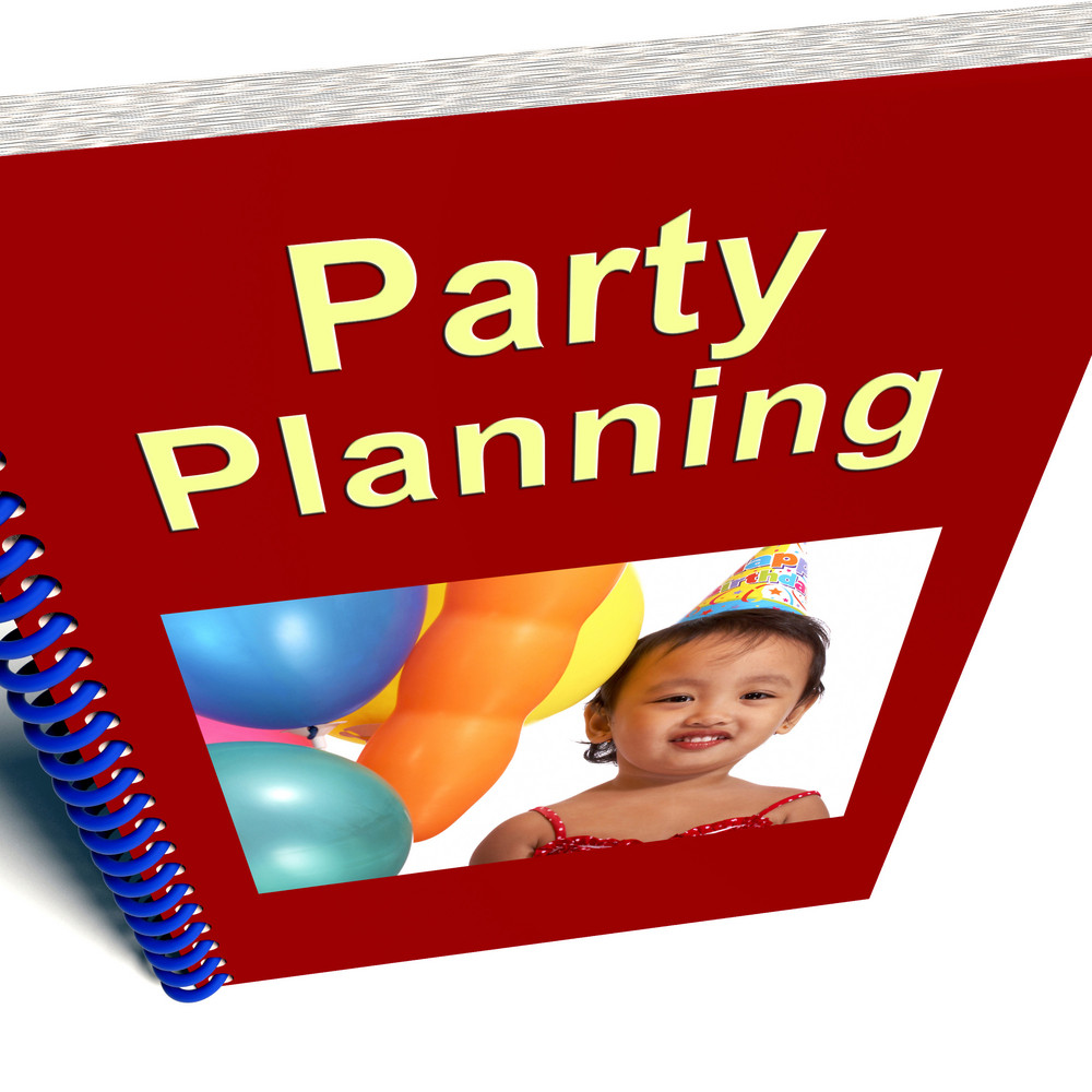 Party Planning Book Shows Celebration Organization