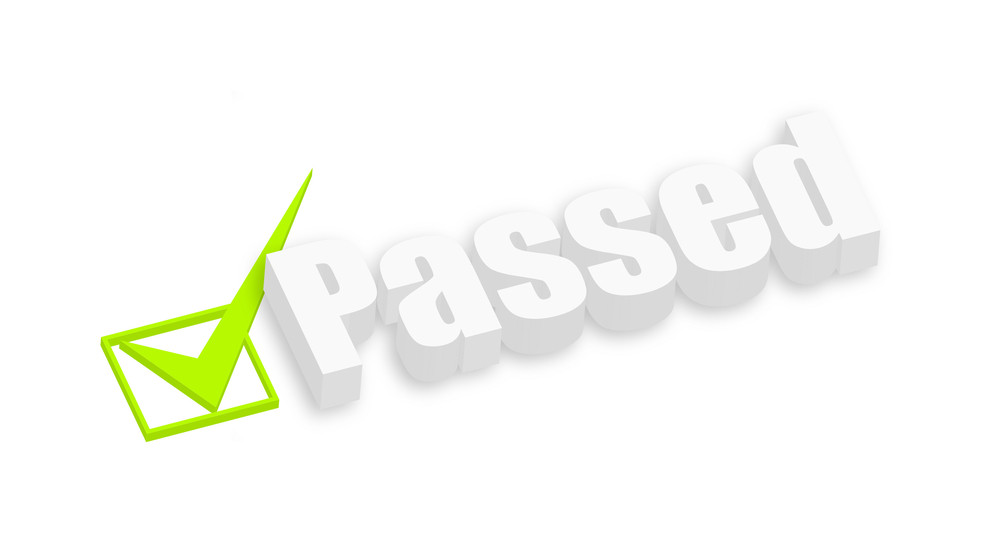 Passed 3d Text