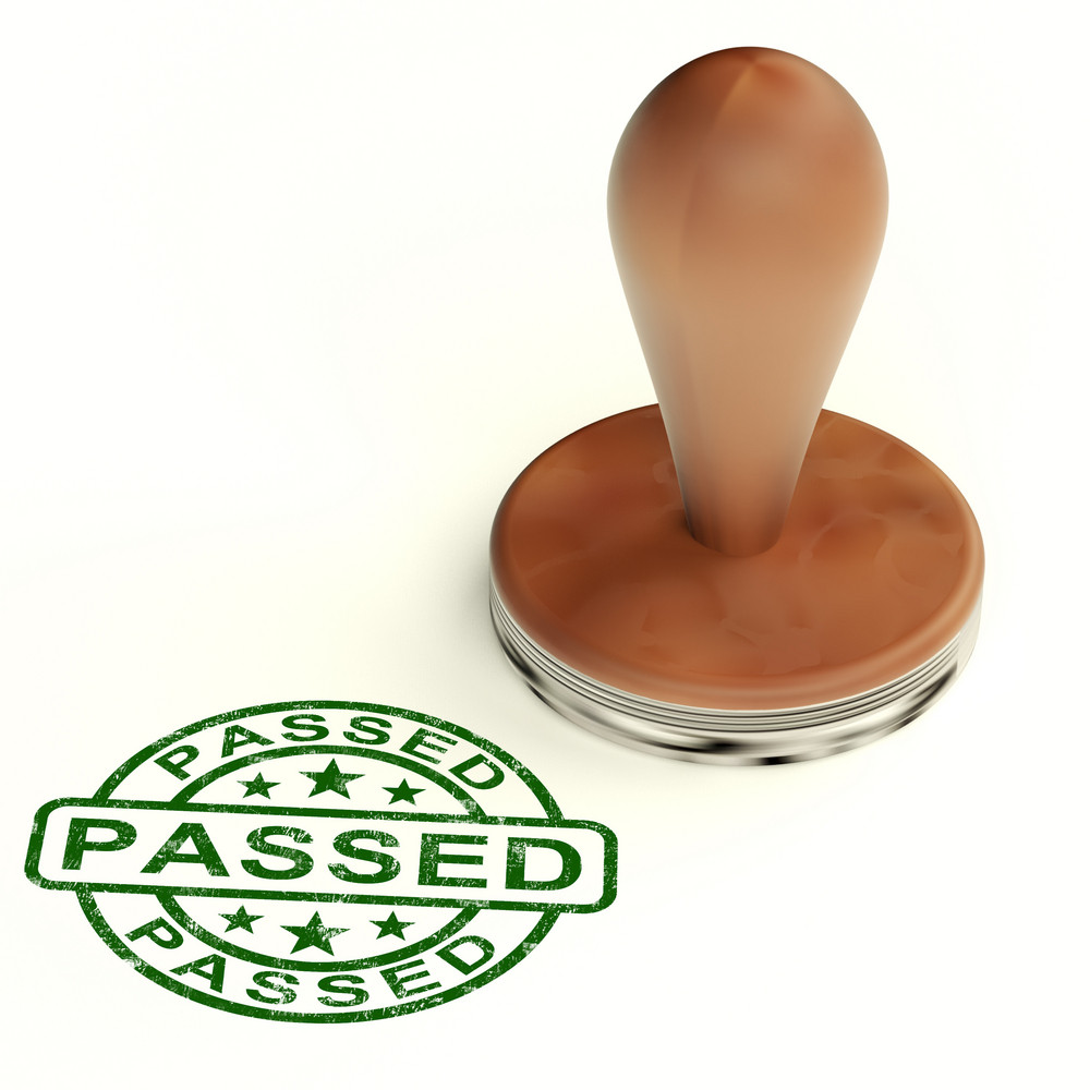 Passed Stamp Shows Quality Control Approved Product