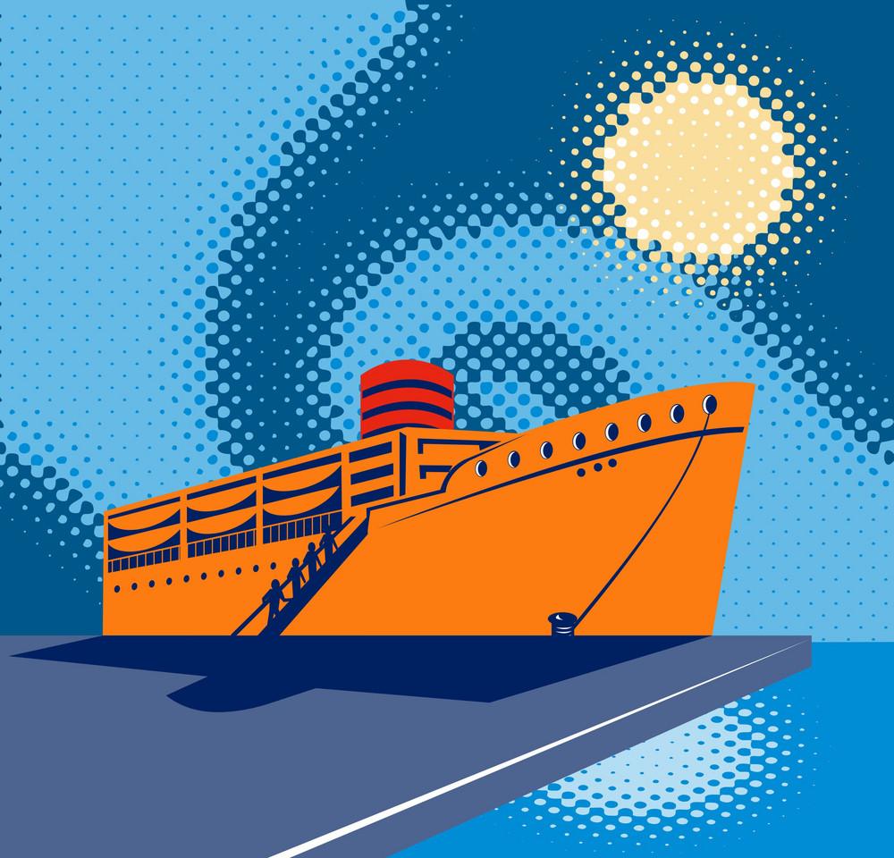 Passenger Cargo Ship Docking