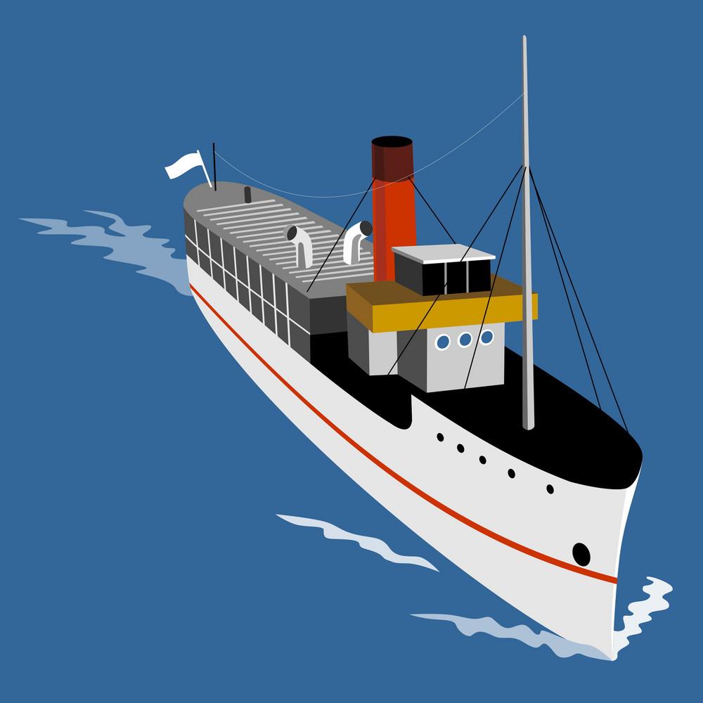 Passenger Steamship Boat
