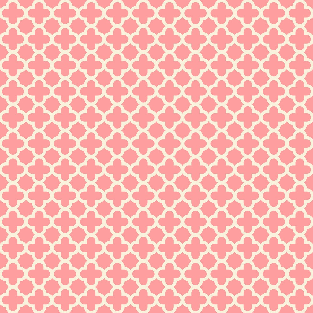 Pastel Red Quatrefoil Pattern