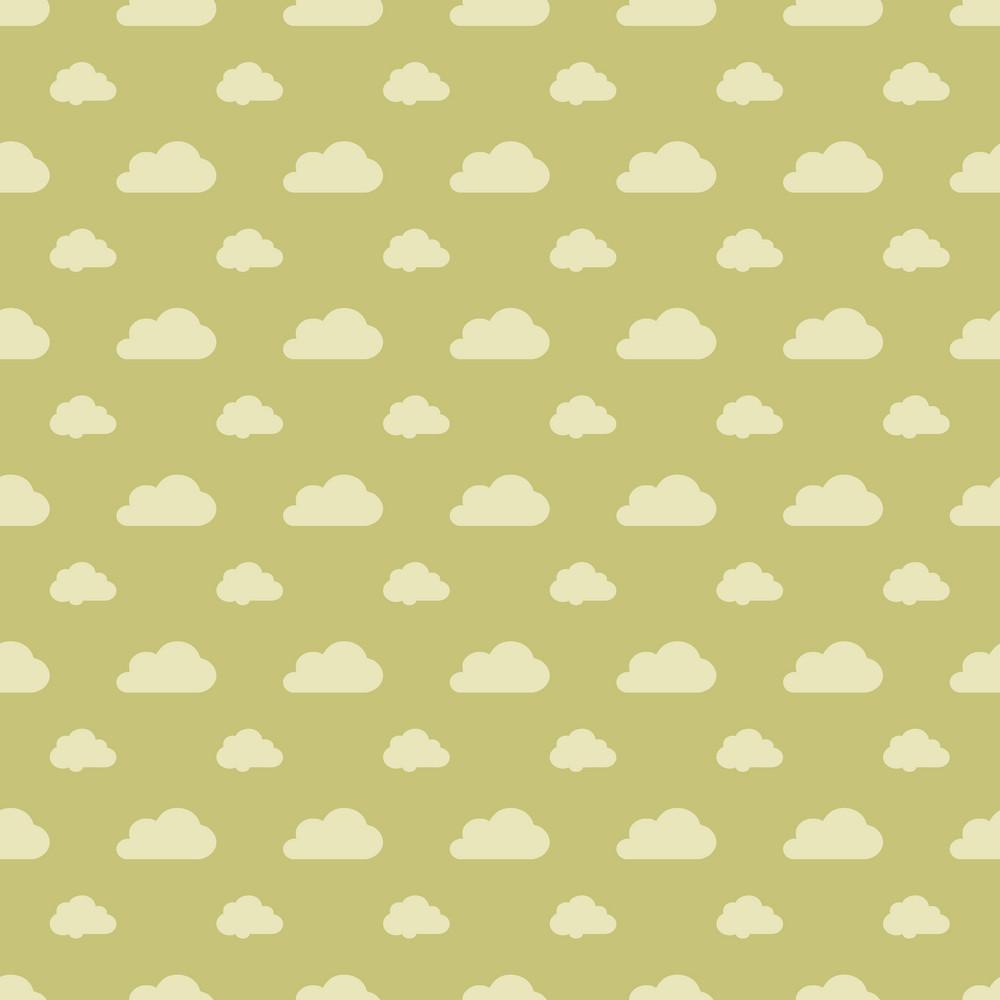 Green Pastel Cloud Pattern