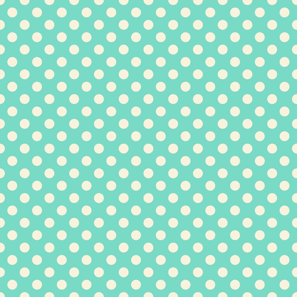 Pastel Green Polka Dots Pattern