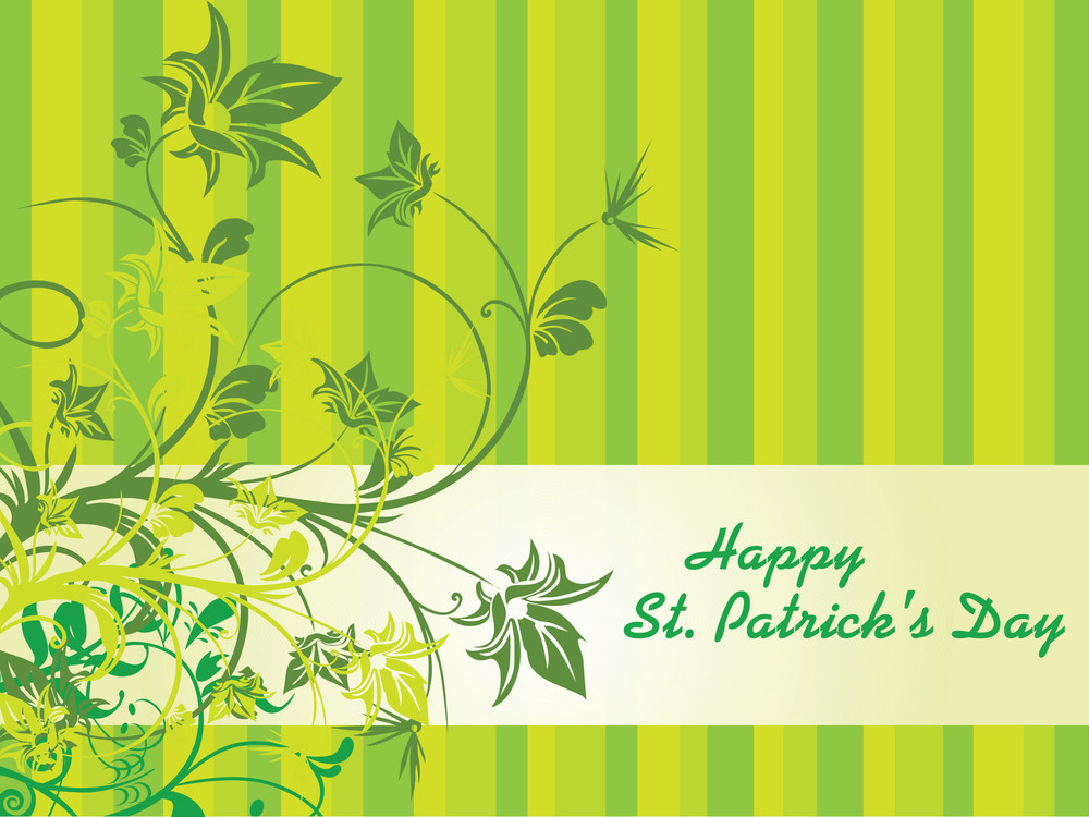 Patrick Day Background With Swirl Design 17 March