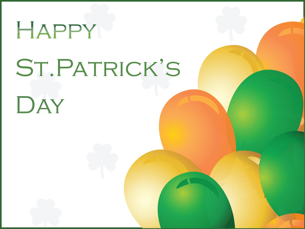 Patrick's Day Background With Colorful Balloons 17 March