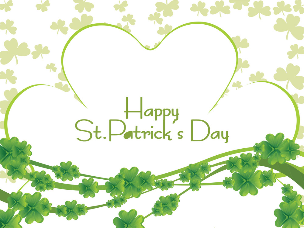 Patrick's Day Background With Shamrock Vector 17 March