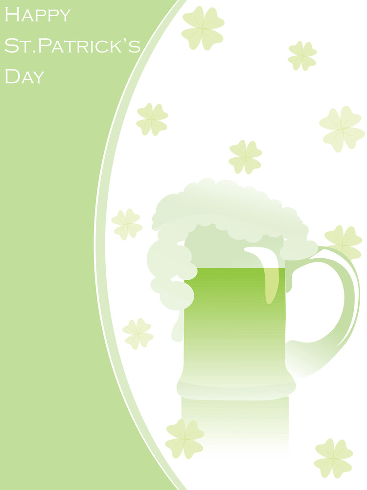 Patrick's Day Card With Abstract Design 17 March