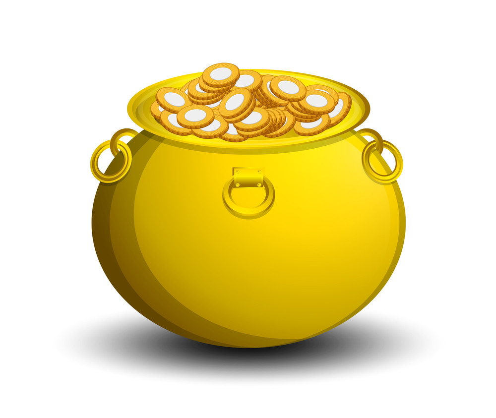 Patrick's Day Cauldron Full Of Gold Coins
