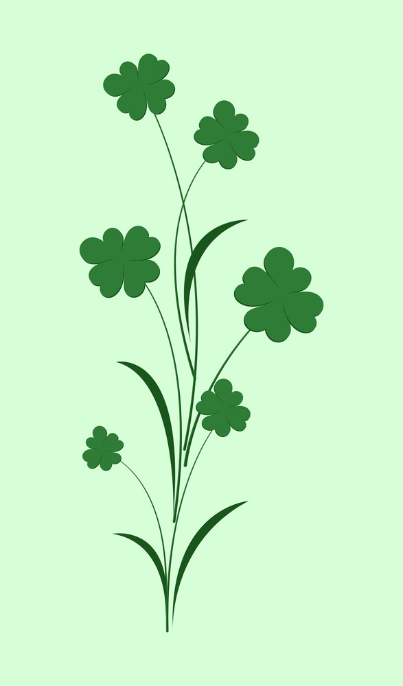 Patrick's Day Clover Leaves