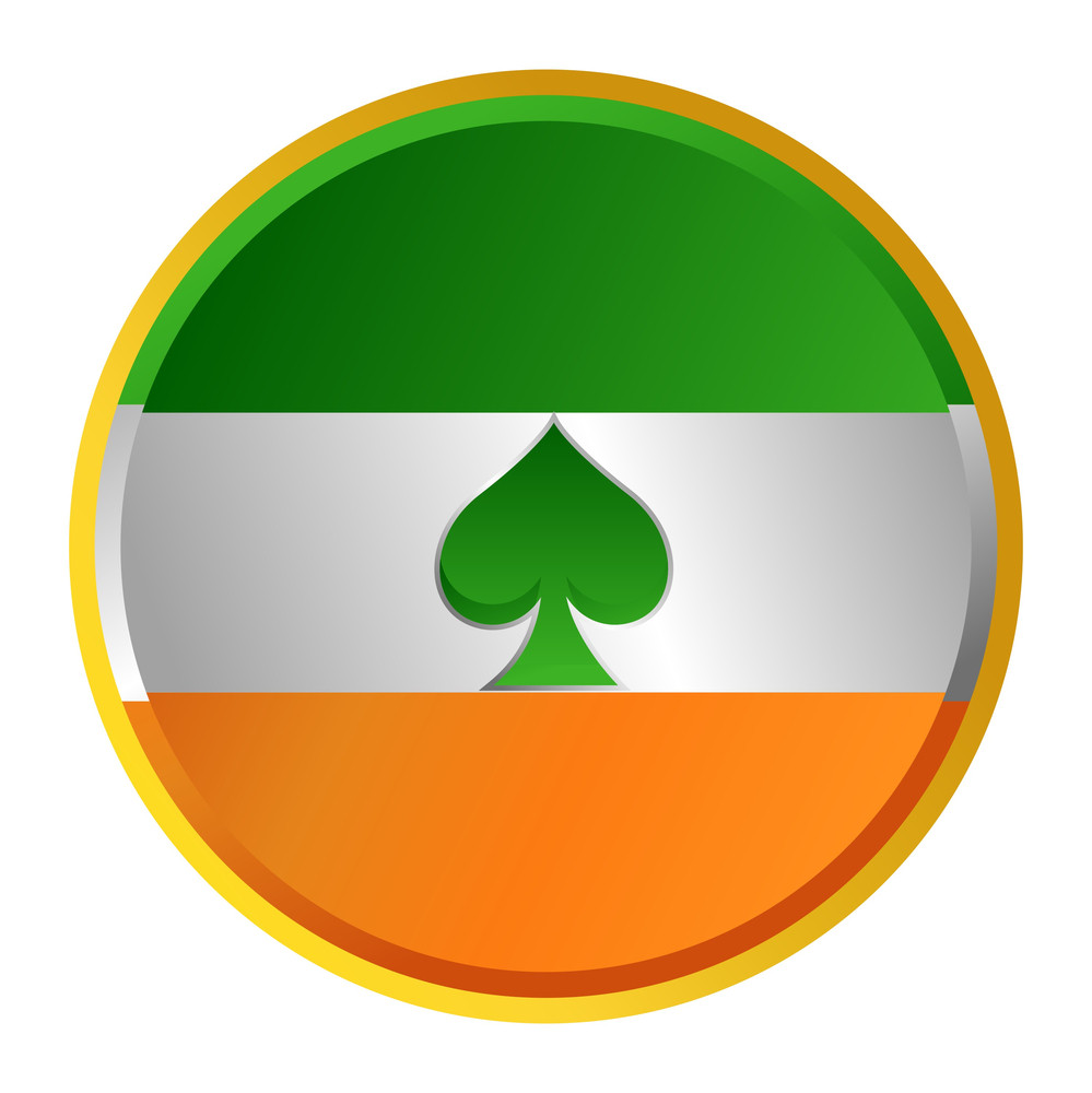 Patrick's Day Flag Button