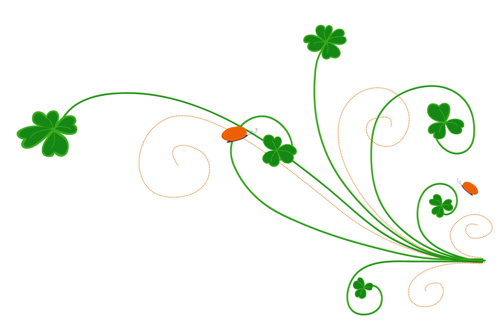 Patrick's Day Floral Design Vector