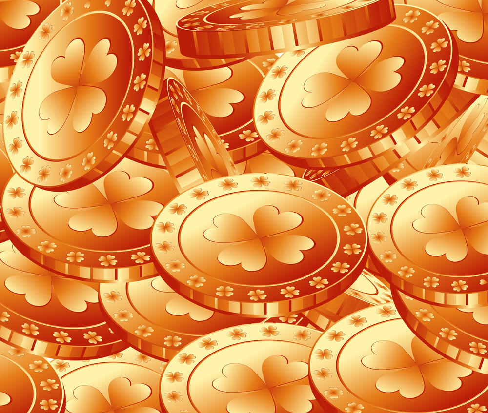 Patrick's Day Gold Coins Pattern