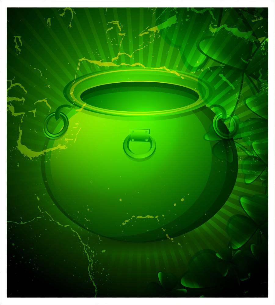 Patrick's Day Grunge Cauldron Background