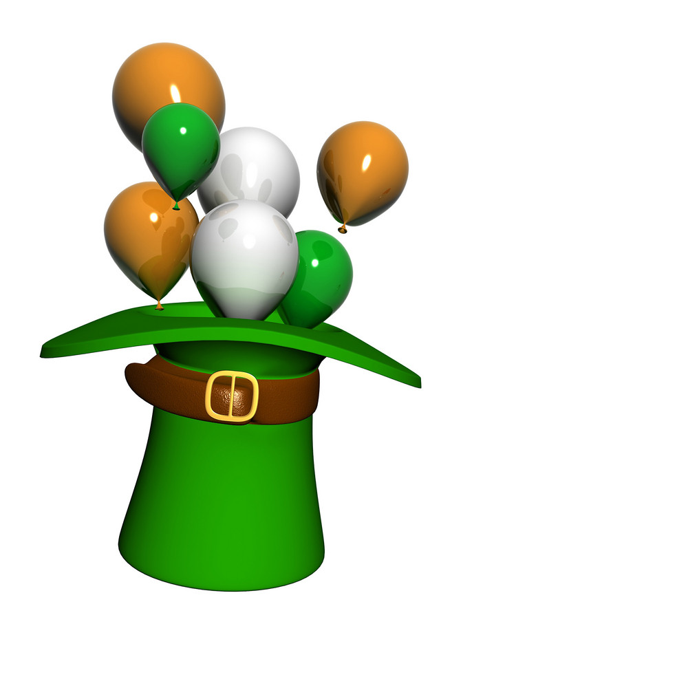 Patricks Day Hat With Balloons